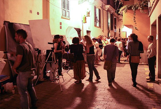 "The night of the art ""Nit de l'Art"" in S'Arraco / Andratx"