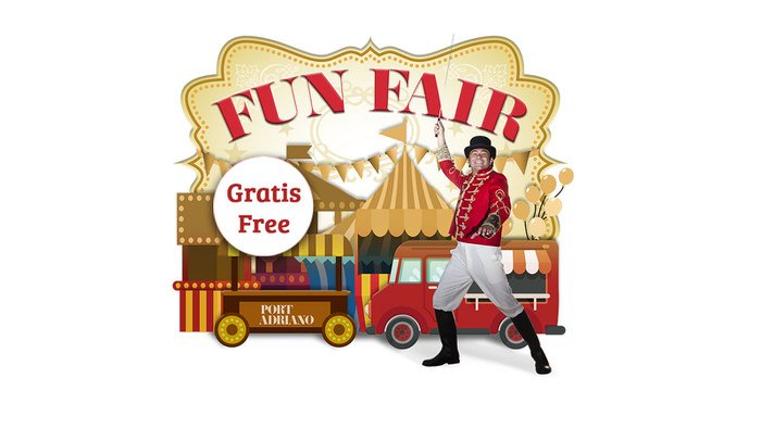 Port Adriano fun fair in july & august