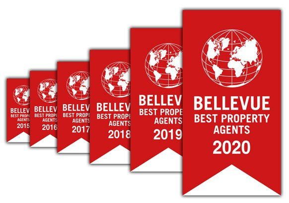 "We are once again awarded ""Bellevue Best Property Agent 2020"""