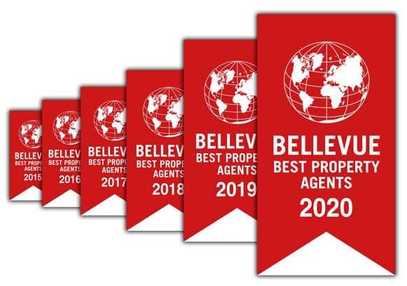 """Erneut ausgezeichnet!  """"Bellevue Best Property Agent 2020"""""""